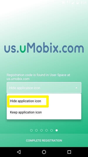 hide app icon
