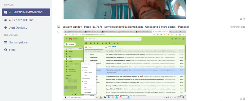 spying on gmail with hoverwatch