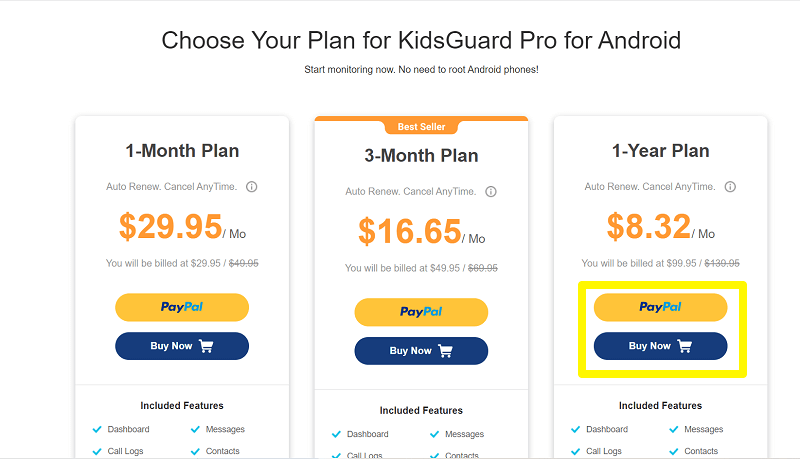 Buy a plan