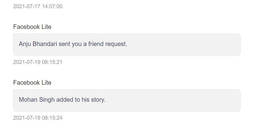 facebook app notifications