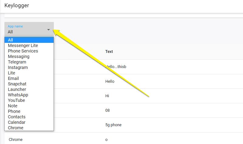 select keylogger app