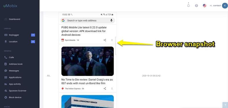 browser monitoring