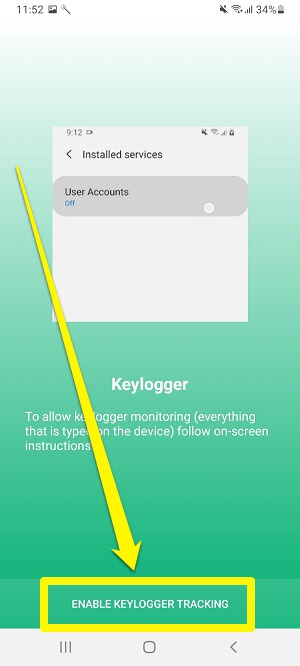 enable keylogger